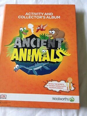 Ancient Animals Collector's Album + Complete Full Set Of Cards