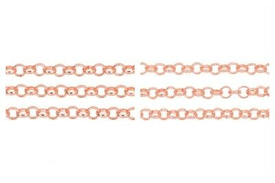 Designer Quality ROSE GOLD Chain Jewellery Making Findings 4 - 8mm - lady-muck1