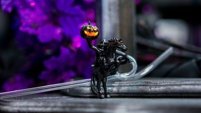 Disney Parks HEADLESS HORSEMAN Light Up DRINKING STRAW Halloween Party EXCLUSIVE