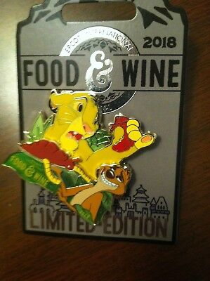 New Disney EPCOT Food & Wine Festival 2018 SIMBA  Pin Limited Edition 2018