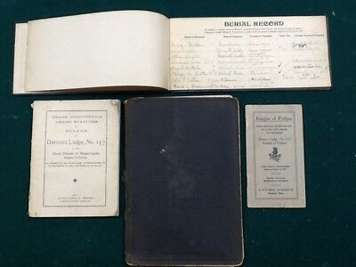 Antique books manuals lodge fraternal Knights of Pythias death records 1893 1911