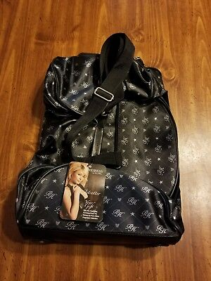 0087a1184fcf Paris Hilton Black   Gray Rolling Carry-On Duffel Bag New with Tags