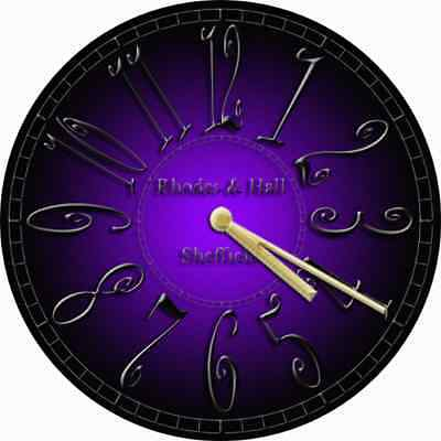 NOVELTY WALL CLOCK - Gothic Purple and Black Design (1) - Decorative Wall Clock