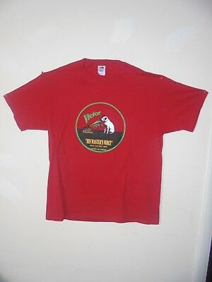 Nipper & Phonograph Red T-Shirts 2X-large XX-large size Edison Made in USA NOS