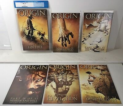 Wolverine Origin 1 2 3 4 5 6 Full Set 1-6 VF/NM or better, #1 is Cracked CGC 9.6