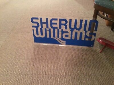 Original vintage SHERWIN-WILLIAMS paint sign