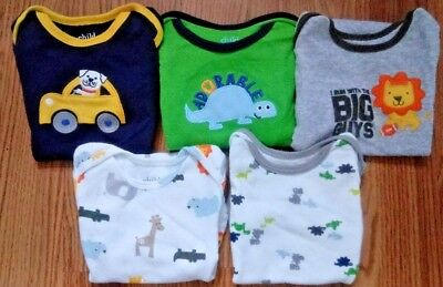 6d96b1282 BABY BOY 6 month cotton one-piece sleepers fall LOT of three ALL ...