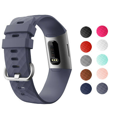 Smart Silicone Sport Watch Bracelet Tracker Wrist Band Strap For Fitbit Charge 3