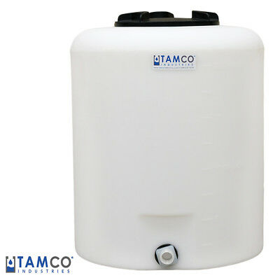 """20 Gallon Tamco® Vertical Natural PE Tank with 8"""" Lid & 3/4"""" Fitting"""