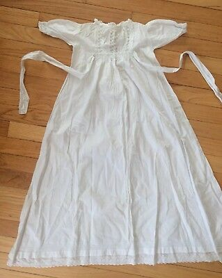 1800s Antique Victorian Baby CHRISTENING GOWN