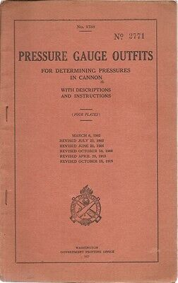 U . S. War Department Pressure Gauge Outfits for Determining Pressures in cannon