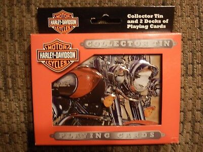 HARLEY DAVIDSON 2003 Collector Tin w/ 2 Decks of Playing Cards Sealed NEW