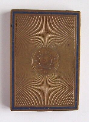Vtg Bourjois Makeup Compact w Powder, Rouge / Blush in Patterned Metal Case, old