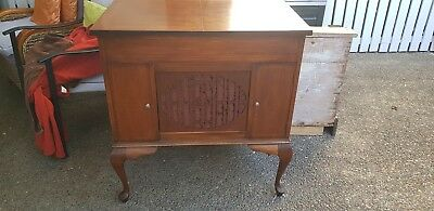 Vintage Gramophone Phonograph homophone larg *Stunning inlaid timbers * Reduced