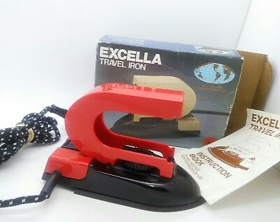 Vintage EXCELLA Travel Iron Daul Voltage for worldwide use