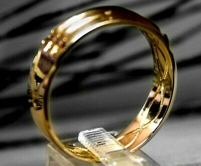 Atlantis Ring 18k Gold Sterling Silver Band Talisman Egyptian Amulet Handcrafted