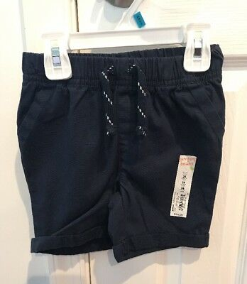 Jumping Beans NWT Baby Boys 9 Months Shorts Navy Cargo Knit
