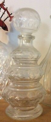 Vintage Decanter Glass Beanie Bottle Style Clear Bub Le Glass