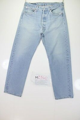 Levis 501 Stone Washed Cod. H2340 Tg48 W34 L30 jeans gebraucht Vintage