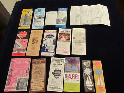 Vintage South Carolina SC Travel Tourist Lot of 17   Mainly 1960's  A19