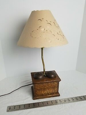Antique Oak Western Electric Telephone Ringer Box Vintage Phone Bells Table Lamp