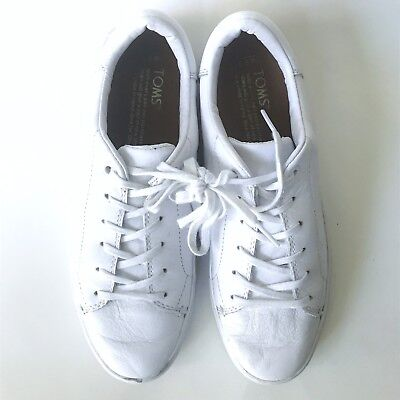 bcc1ce1bba3 TOMS WOMENS LENOX White Leather Sneakers Size US 10 EU 42 -  36.24 ...