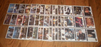 1989 Batman The Movie Complete Card Set 132 cards with 14 top-loading protectors