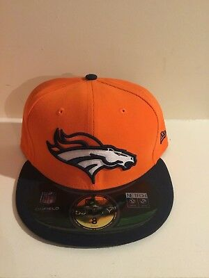 timeless design 1990a e8461 SALE New Era 59Fifty NFL Cap DENVER BRONCOS Basic Team Fitted Hat ORANGE