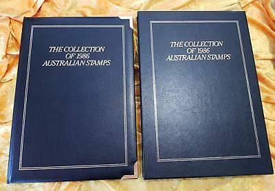 AUSTRALIA POST YEARBOOK 1986 EXECUTIVE BLACK LEATHER - NO STAMPS - PERFECT Cond.