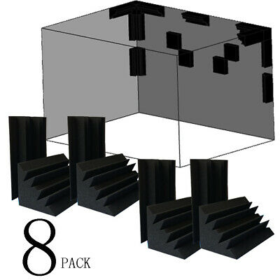 "8 PACK 4.7*4.7*9.4""Corner Bass Trap Studio Acoustic Foam Treatment"