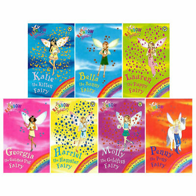 Daisy Meadows Rainbow Magic Pet Keeper Fairies Collection 7 Books Box Set PB NEW