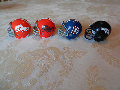 RIDDELL made pocket pro football helmet history lot 4 different DENVER BRONCOS