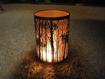 NIB Yankee Candle Twilight Silhouettes Forest Jar Candle Holder