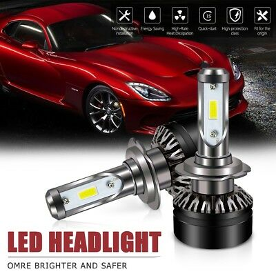 Pair H7Led Headlight Bulb 6000LM 6500K DOTAll-in-One Conversion Kit For Hyundai