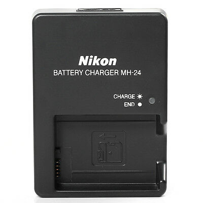 MH-24 Battery Charger EU/UK Plug for Nikon P7000 P7100 D5200 D5100 D3100 D3200