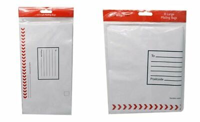 White Strong Postal Mailing bags / Polythene Self Seal Envelopes / Pouches