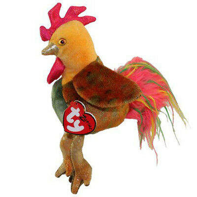 RARE! TY Beanie Babies THE ROOSTER Chinese Zodiac   - MWMTs! Retired!