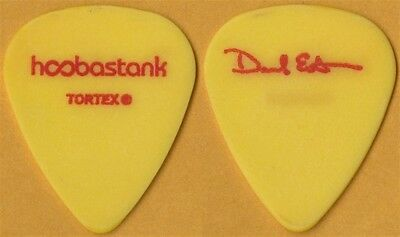 Hoobastank Dan Estrin authentic 2003 tour issued signature Guitar Pick - yellow