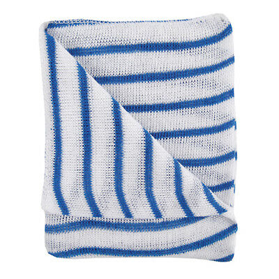 Blue and White Hygiene Dishcloths 16x12 Inches Pack of 10 100755BU