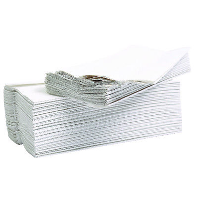 2Work Flushable C-Fold Hand Towel Embossed 2-Ply White 96 Sheets (Pack of 24) 2W