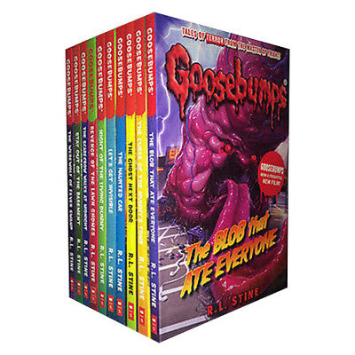 R. L. Stine Goosebumps Series 10 Books Collection Set Ghost Next Door,Haunted Ca