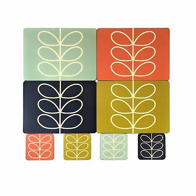 Official Licensed Orla Kiely Linear Leaf Placemats & Coasters Gift Present Boxed