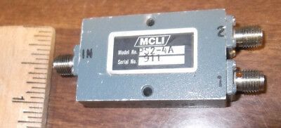 MCLI PS2-4A  Used 2 way POWER DIVIDER & COMBINER SMA  0.5 - 2.5 GHz RF