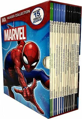 DK Marvel Readers Collection X 15 Books Box Set Pack Spider man X-Men School NEW