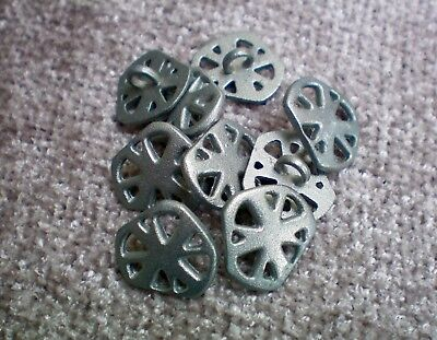 15mm 24L Silver Grey Satin Metal Industrial Rustic Abstract Shank Buttons (XM89)