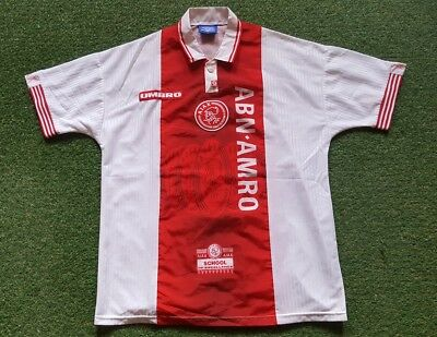 Ajax Amsterdam Football Shirt XL 1997 1998 Umbro Jersey Trikot ABN Amro
