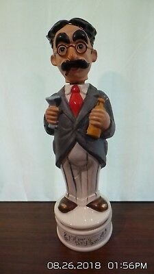 """VINTAGE Groucho Marx Whiskey Decanter/Music Box Plays """"How Dry I Am""""  *RARE*"""