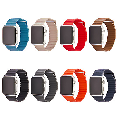 Premium Leder Loop Armband Ersatzarmband Für Apple Watch Series 4 / 3 / 2 /1