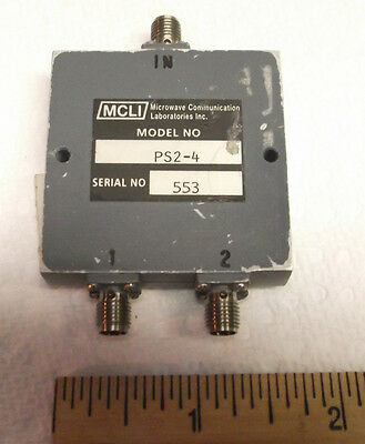 MCLI PS2-4  POWER DIVIDER & COMBINER 2 way  SMA  0.5 - 2.5 GHz RF  Used