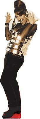 SELENA Q - dazzling in mirrored vest - Life size Cardboard Cutout Standee